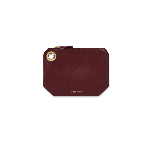 Burgundy Italian Leather Coin Purse
