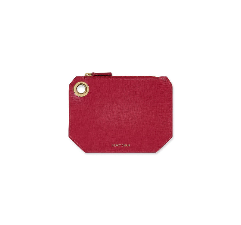 Fuchsia Italian Leather Coin Purse