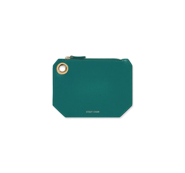 Teal Italian Leather Coin Purse