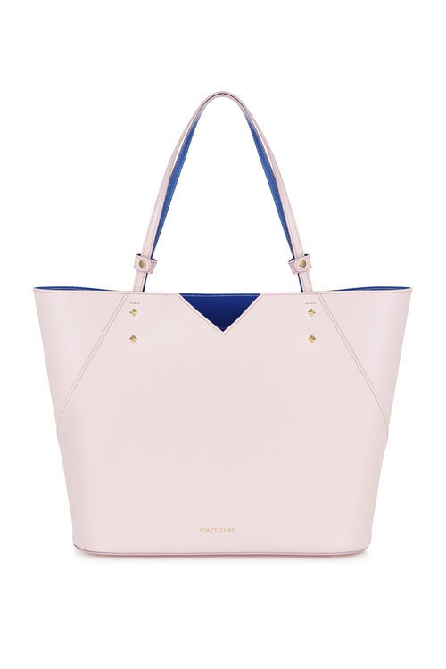 Veronica Tote in Peony Saffiano Leather - Stacy Chan Limited