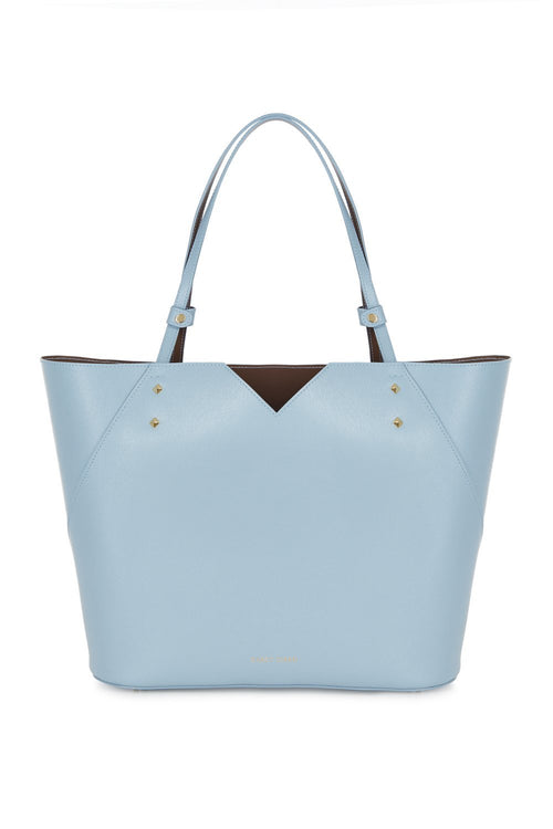 Veronica Tote in Powder Blue Saffiano Leather - Stacy Chan Limited