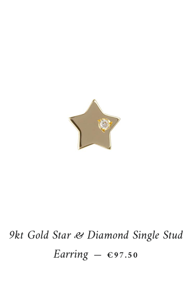 single diamond star stud