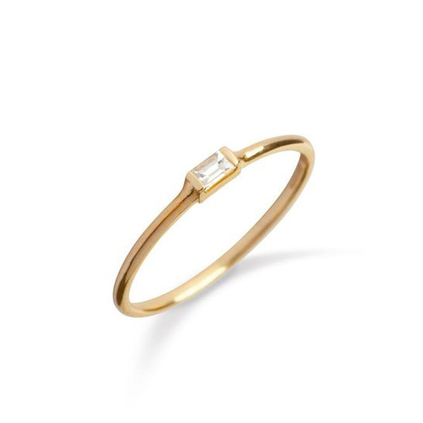 9kt Gold Baguette Diamond Ring - MoMuse Jewellery