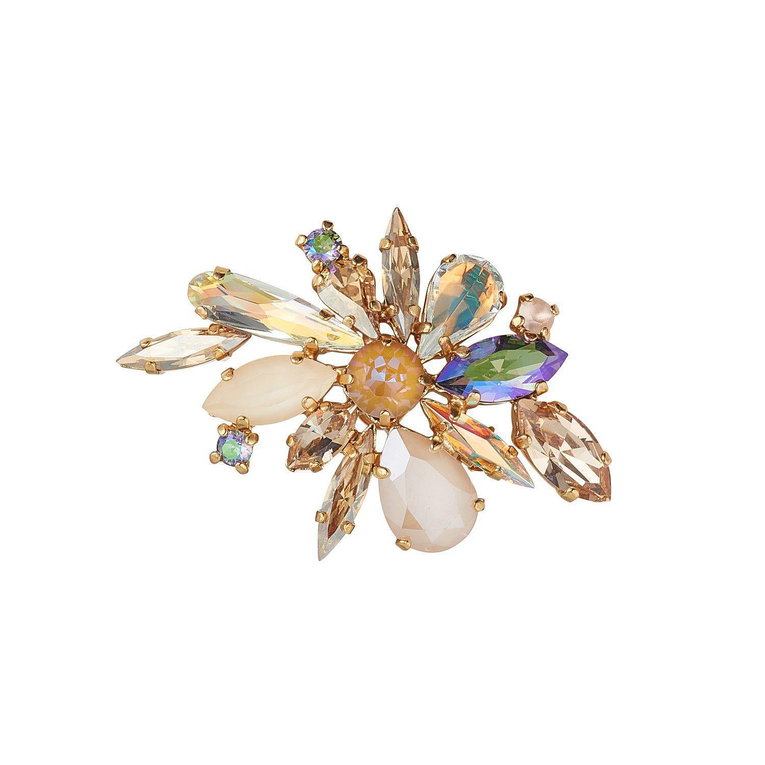 Golden Shadow Swarovski Crystal Cluster Brooch