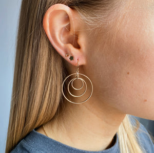 14kt Gold Filled Triple Circle Hoops