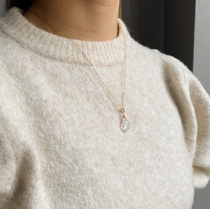 14kt Gold Filled Opaque Teardrop Pendant