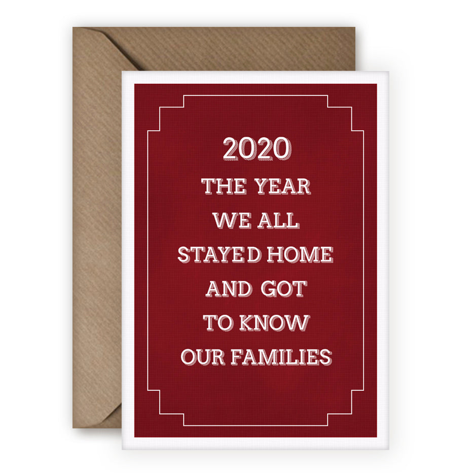 Simple Things '2020 The Year We Stayed In' Card - MoMuse Jewellery