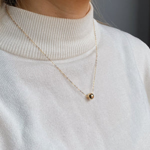 14kt Gold Filled Petite Ball Pendant