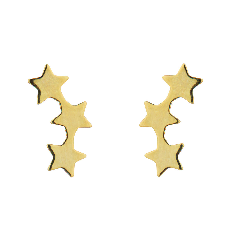 9kt Gold 3 Star Stud Earrings Fine Jewellery Collection Momuse