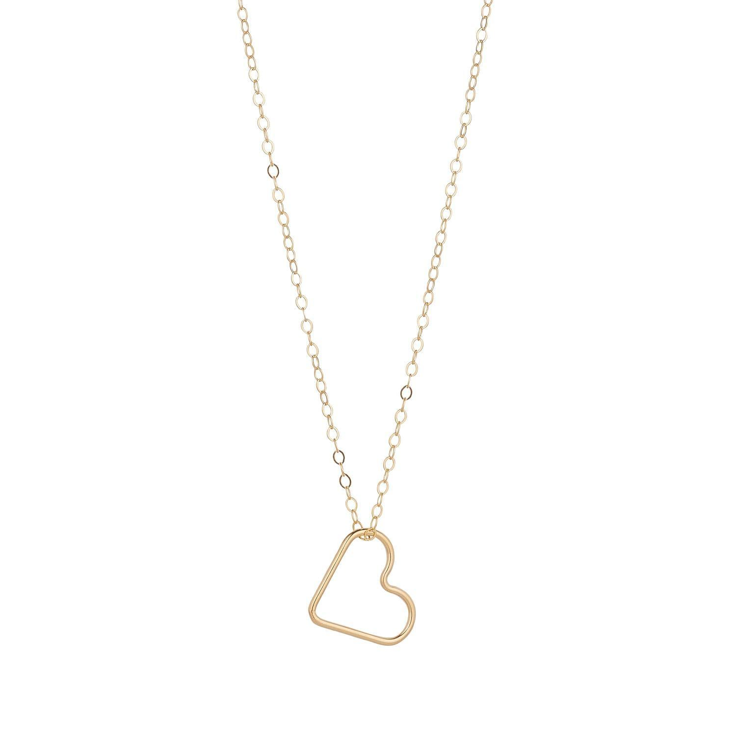 Gold Filled Heart Pendant (Small)