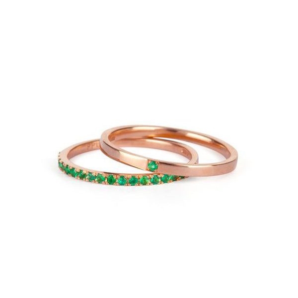 9kt Gold Single Emerald Ring