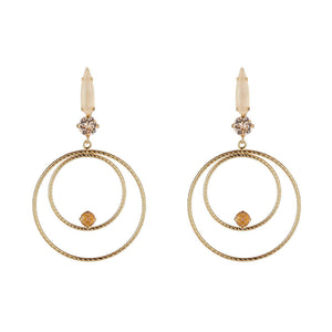 Golden Shadow Large Circle Drop Earrings