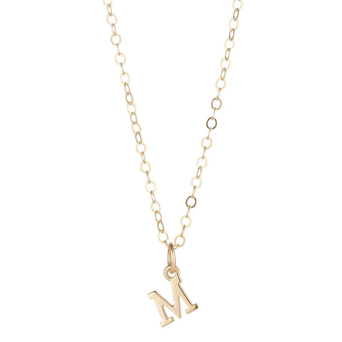 9kt Gold Initial Pendant (A to Z)