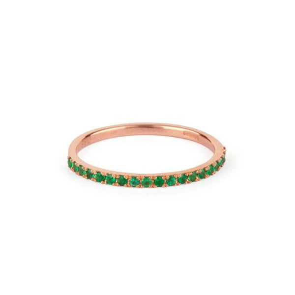 9kt Gold Emerald Ring