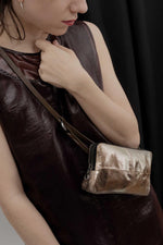 Load image into Gallery viewer, Ina Kent Crackled Anthra Small Handbag