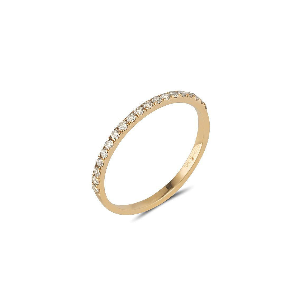 9kt Gold 19 Grey Diamond Band