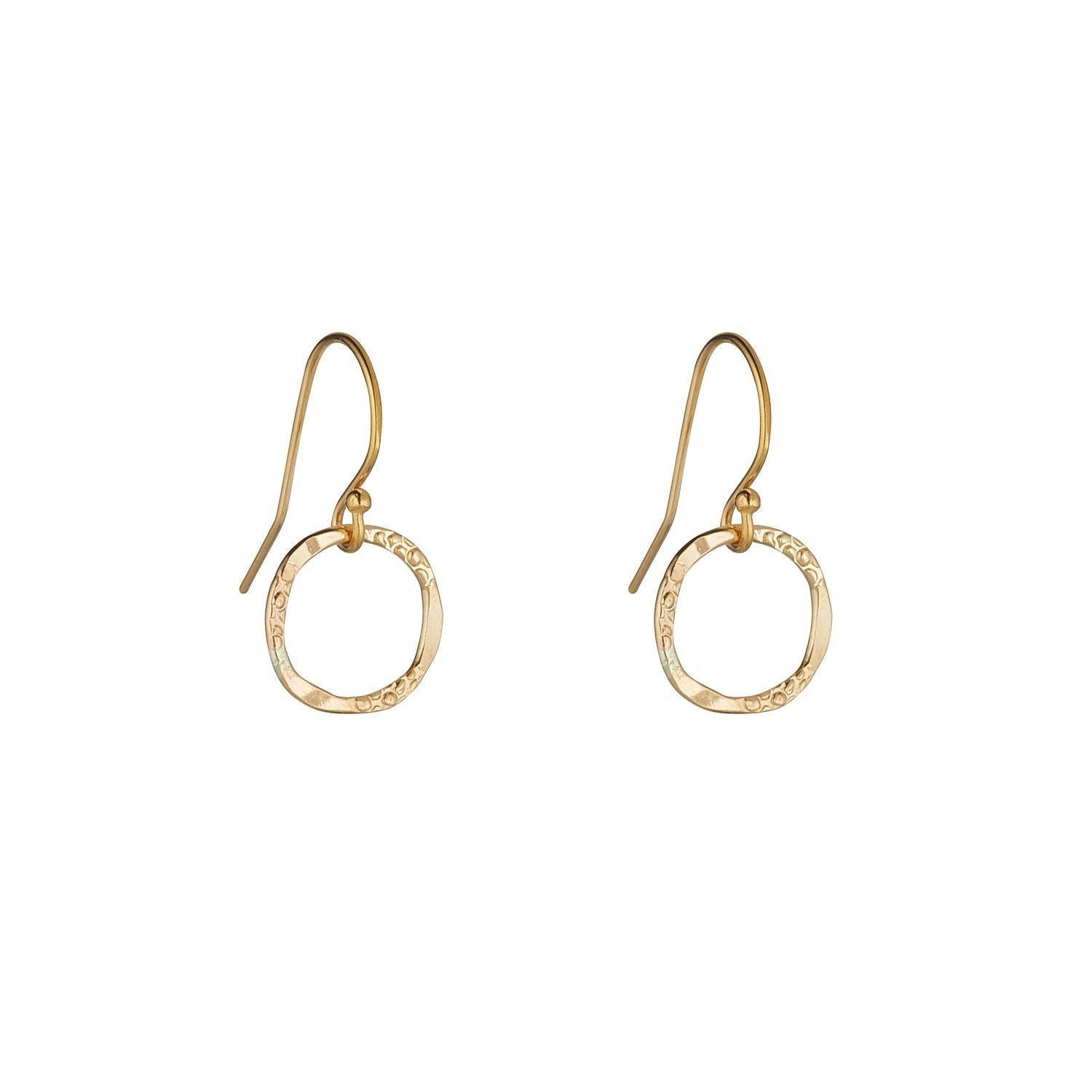 Gold Filled Molten Circle Drops (2 Sizes)