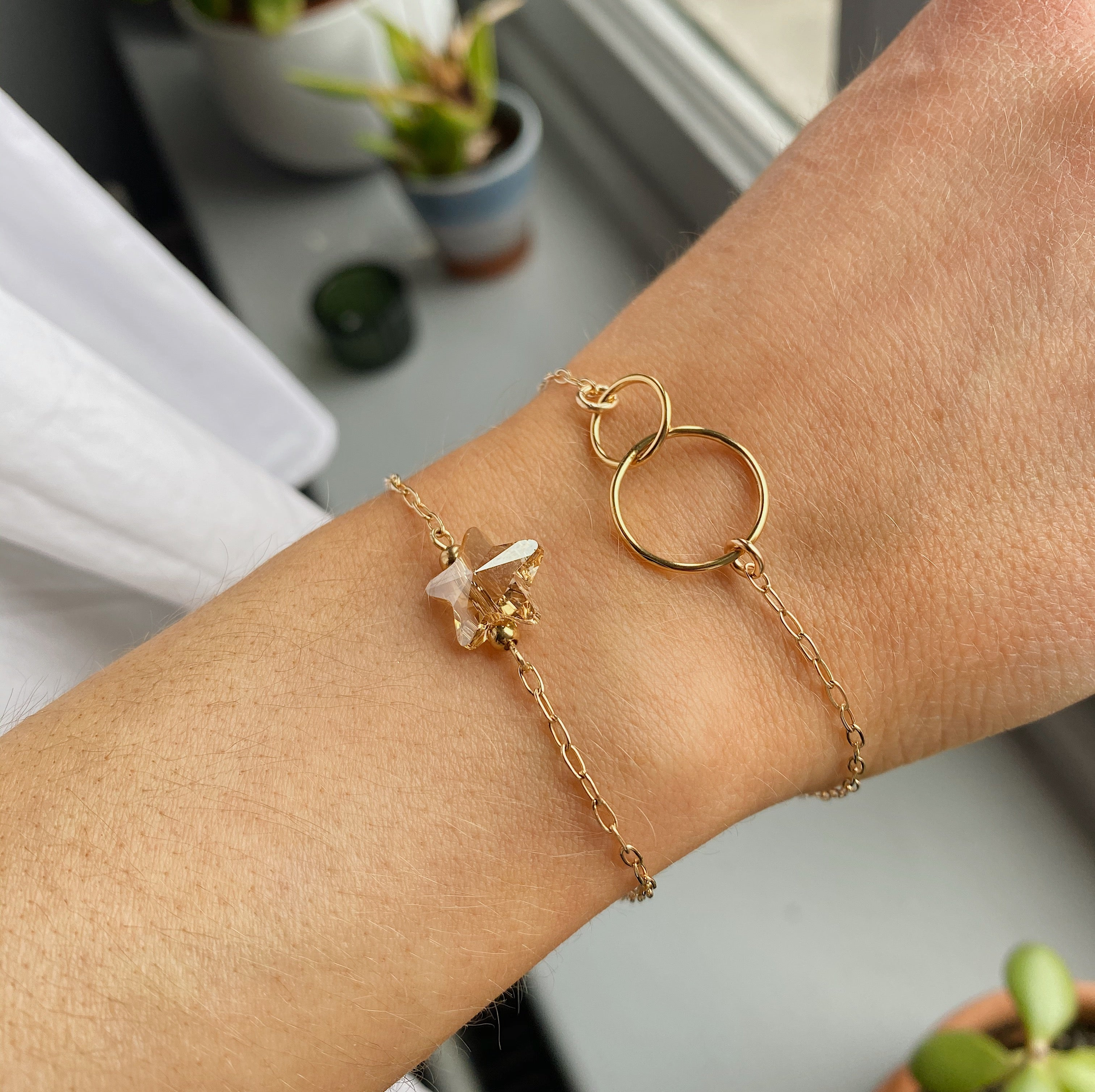 Gold Filled Double Circle Bracelet