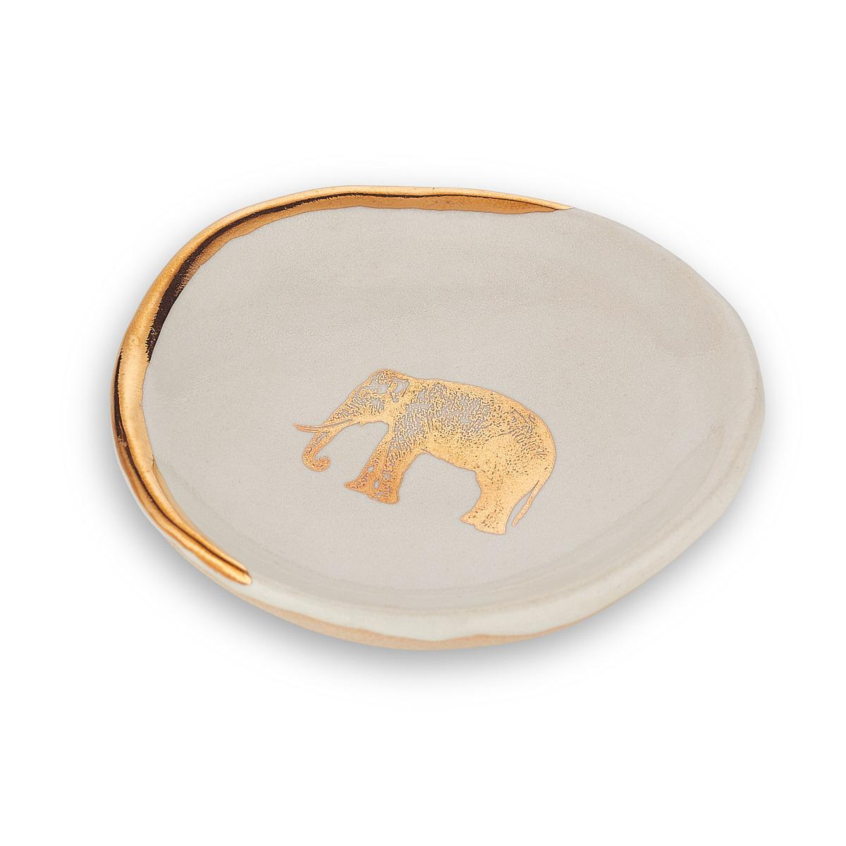 Small White Elephant Plate