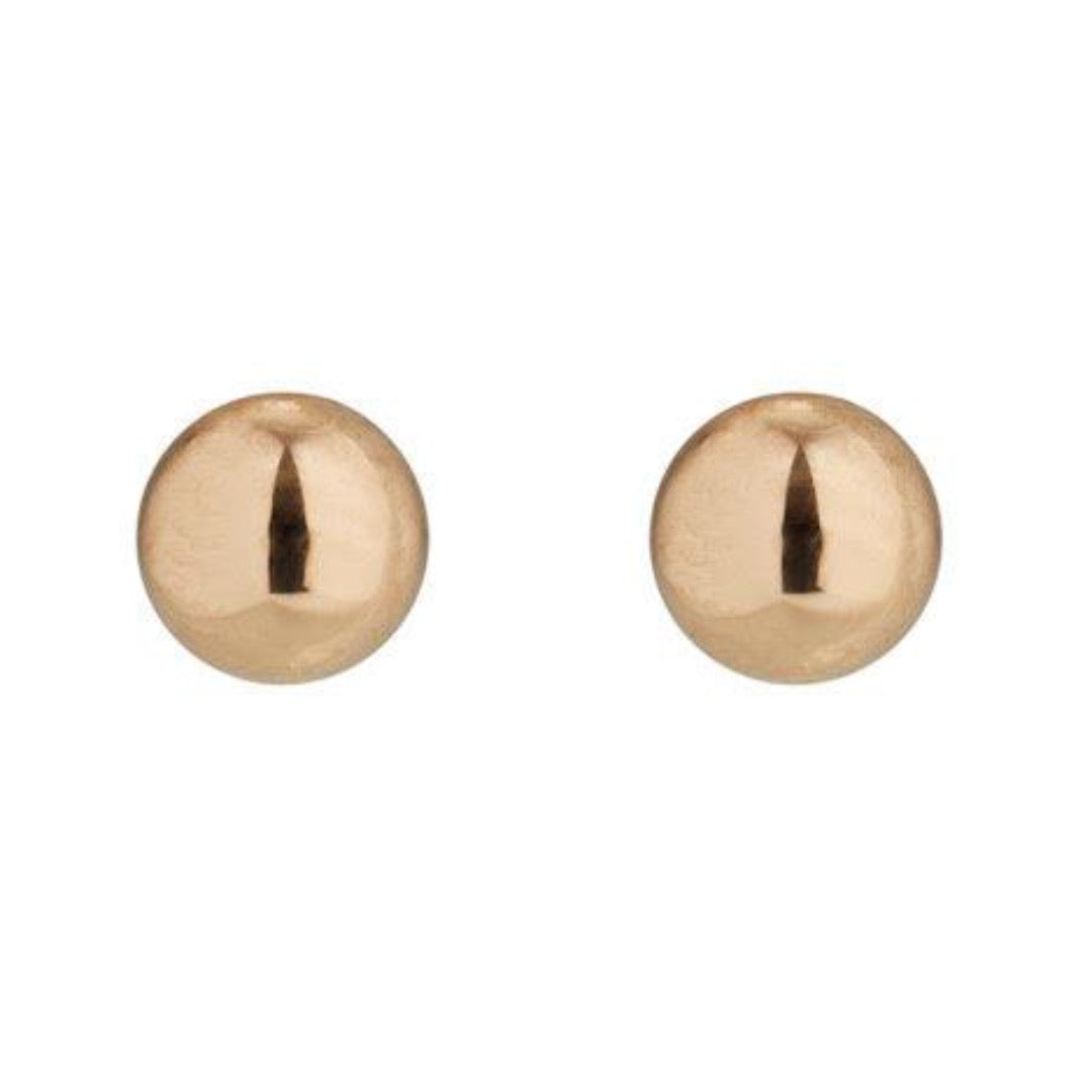 9kt Gold Ball Studs - 4mm - MoMuse Jewellery