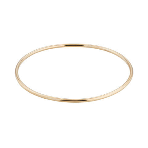 9kt Gold Solid Bangle - MoMuse Jewellery