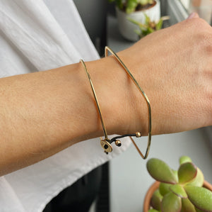 9kt Gold Square Bangle