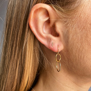 14kt Gold Filled Double Circle Earrings