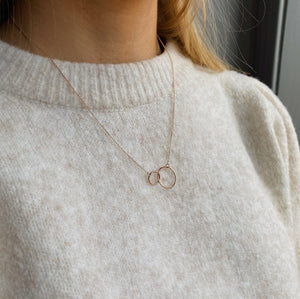 9kt Rose Gold Double Circle Pendant