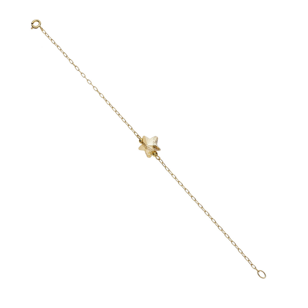 14kt Swarovski Star & Gold Filled Chain Bracelet