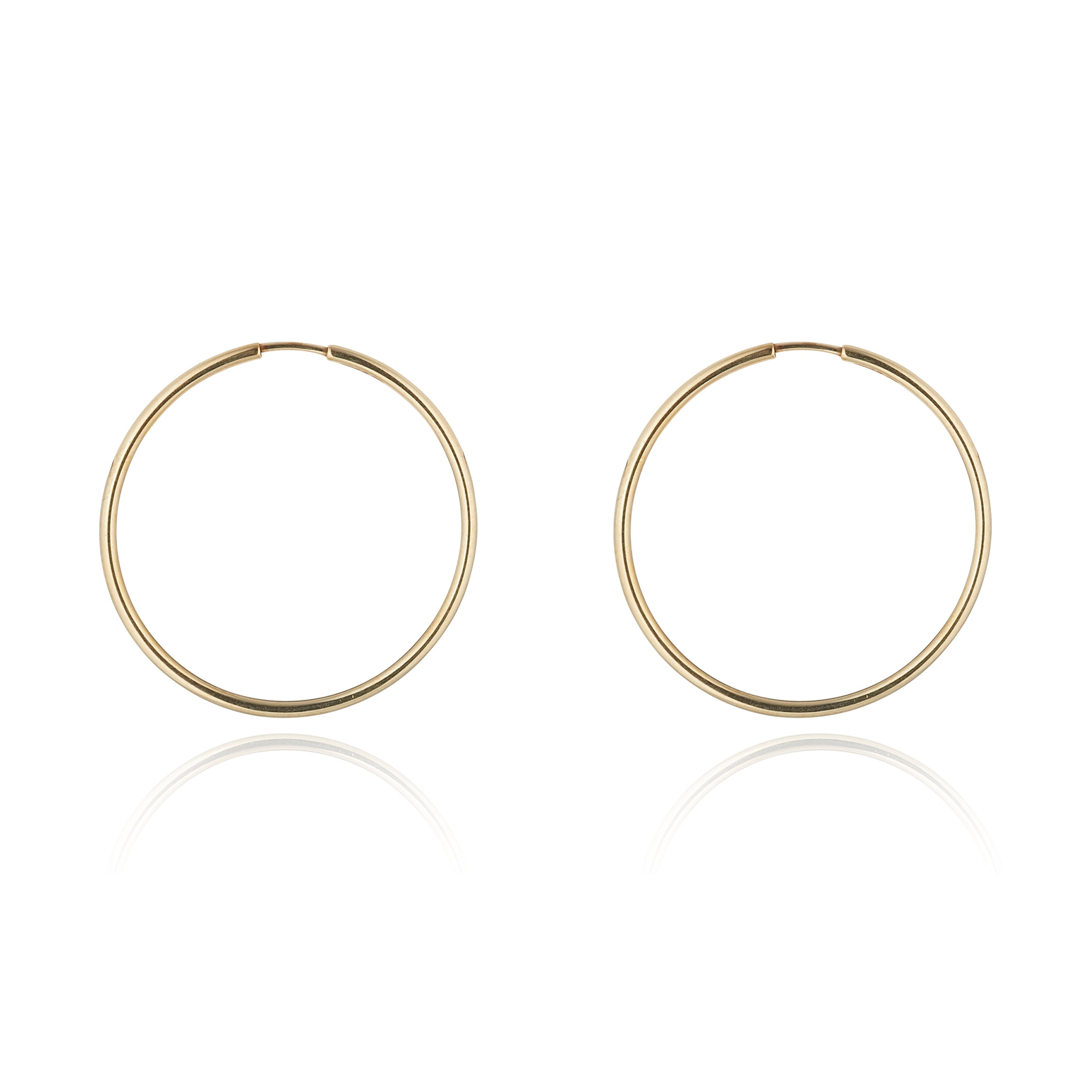 9kt Gold Hoops (Large) - MoMuse Jewellery