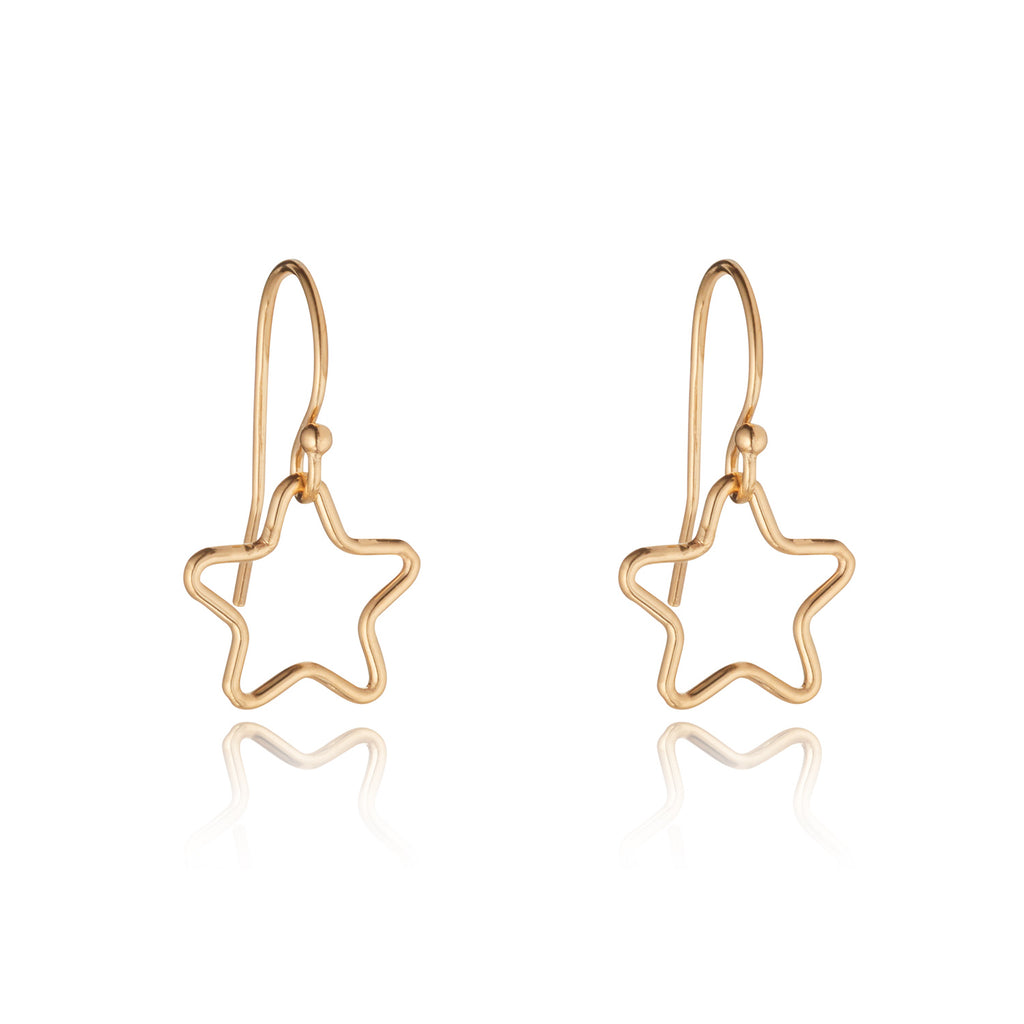 14kt Gold Filled Star Charm Earrings - MoMuse Jewellery