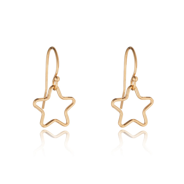 14kt Gold Filled Star Charm Earrings