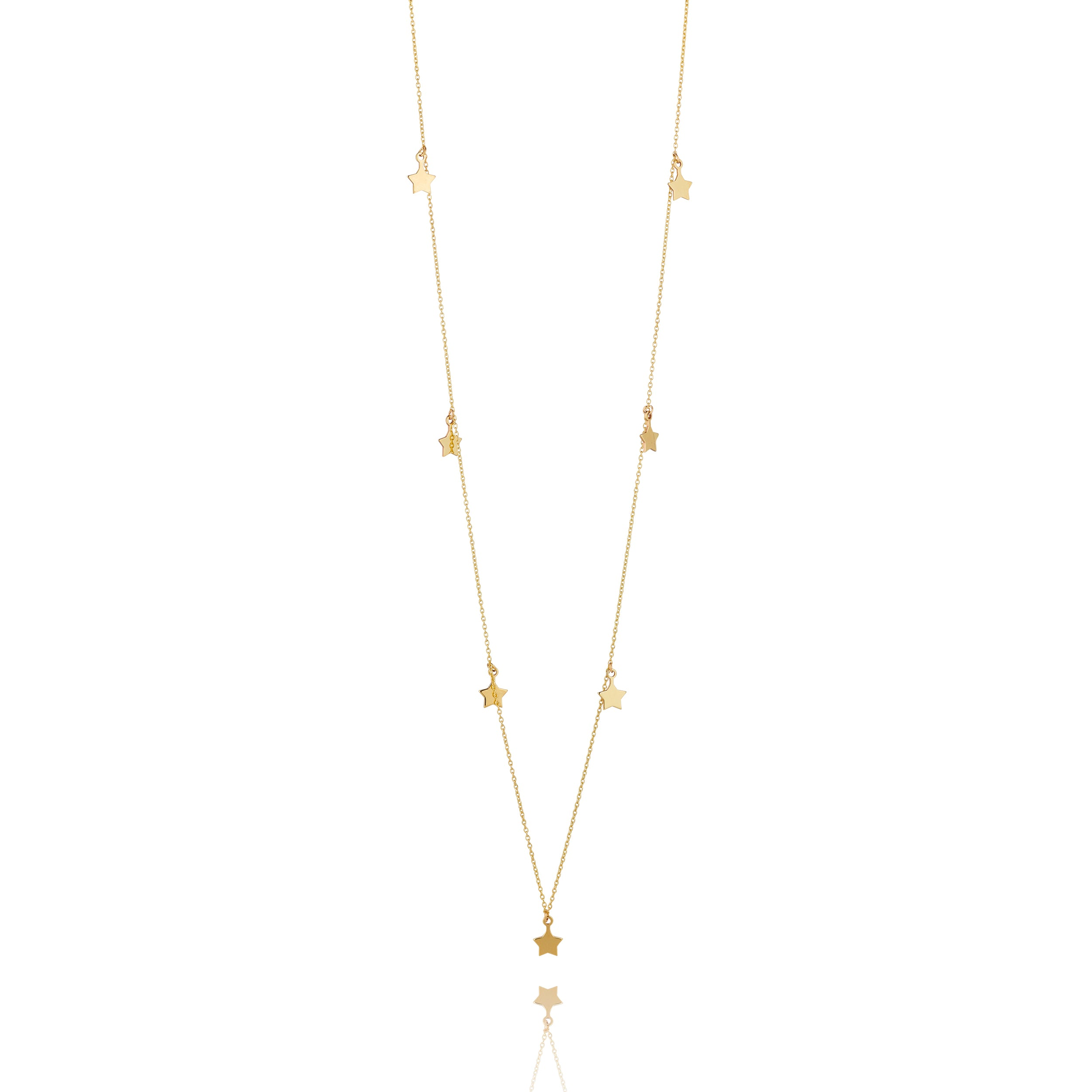 9kt Gold Seven Star Necklace - MoMuse Jewellery