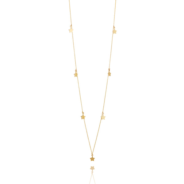 9kt Gold Seven Star Necklace