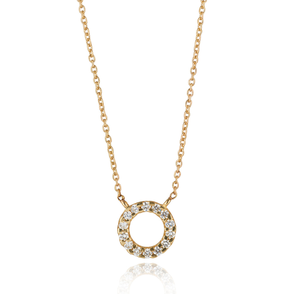 9kt Gold Diamond Circle Pendant