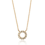 Load image into Gallery viewer, 9kt Gold Diamond Circle Pendant - MoMuse Jewellery