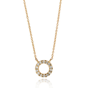 9kt Gold Diamond Circle Pendant - MoMuse Jewellery