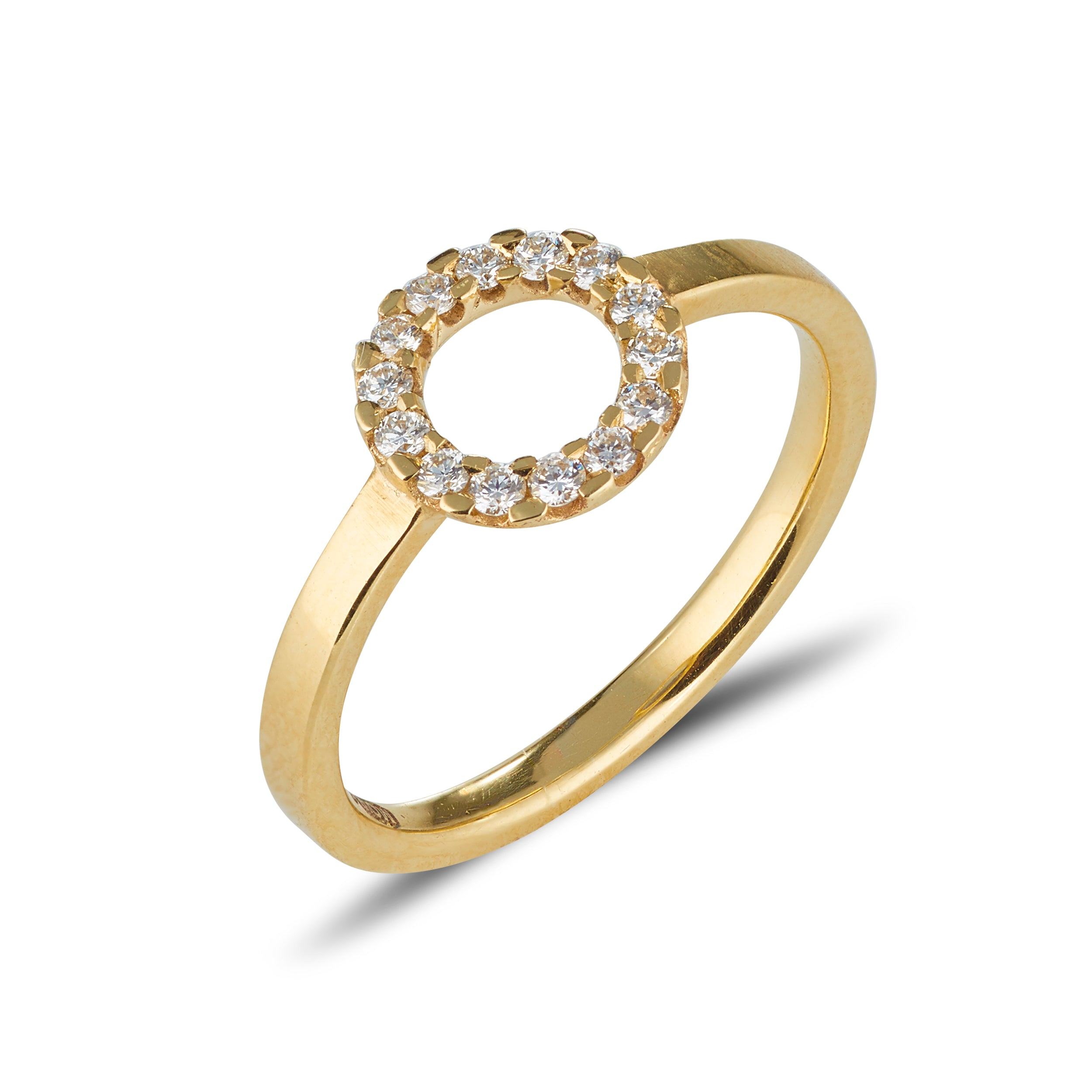 9kt Gold Diamond Circle Ring - MoMuse Jewellery