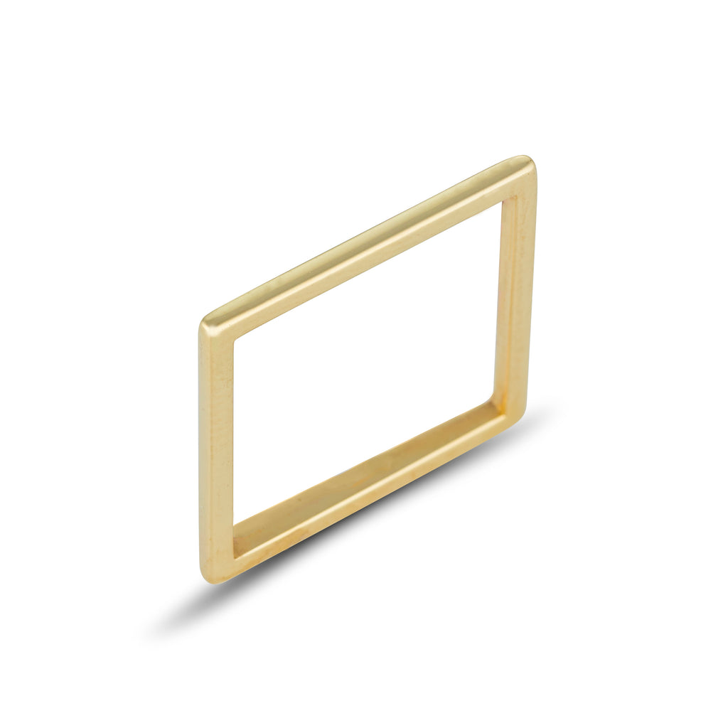 9kt Gold Square Ring - MoMuse Jewellery
