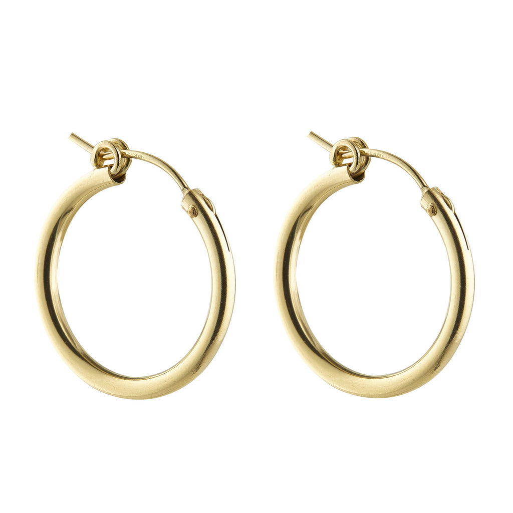 14kt Gold Filled Clip Hoop (Large) - MoMuse Jewellery