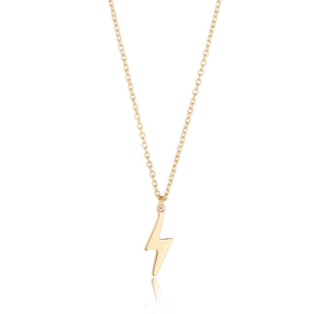 9kt Gold Lightning Bolt Necklace - MoMuse Jewellery