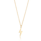 9kt Gold Lightning Bolt Necklace