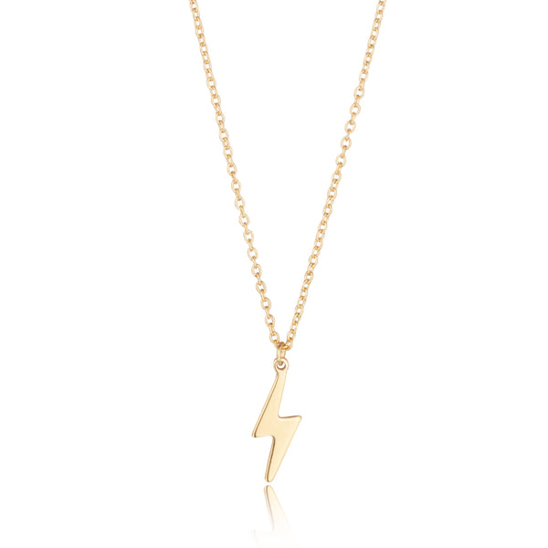 9kt Gold Lightening Bolt Necklace