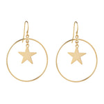Load image into Gallery viewer, Star & Circle Gold Filled Earrings - MoMuse Jewellery