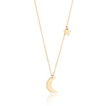 Load image into Gallery viewer, 9kt Gold Moon & Star Necklace - MoMuse Jewellery