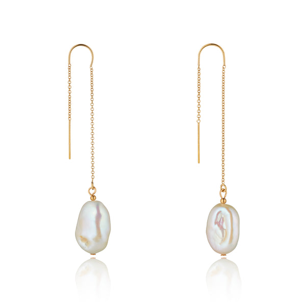 14kt Gold Filled Baroque Pearl Threaders