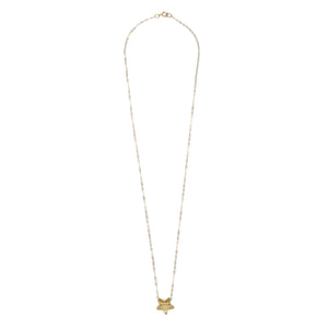 14kt Gold Filled Chain with Golden Shadow Swarovski Star Pendant - MoMuse Jewellery