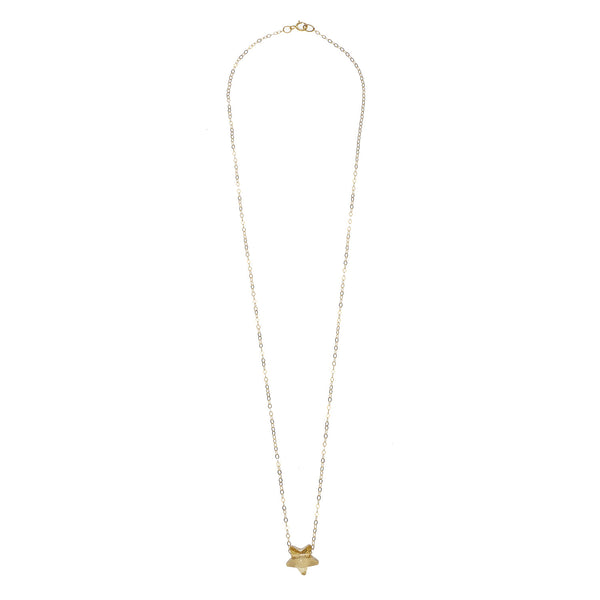 14kt Gold Filled Chain with Golden Shadow Swarovski Star Pendant