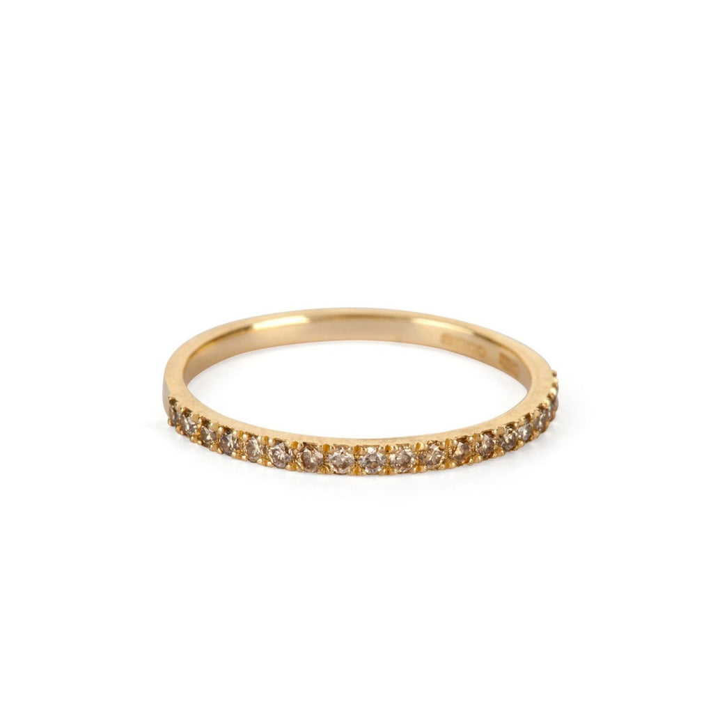9kt Gold Champagne Diamond Ring