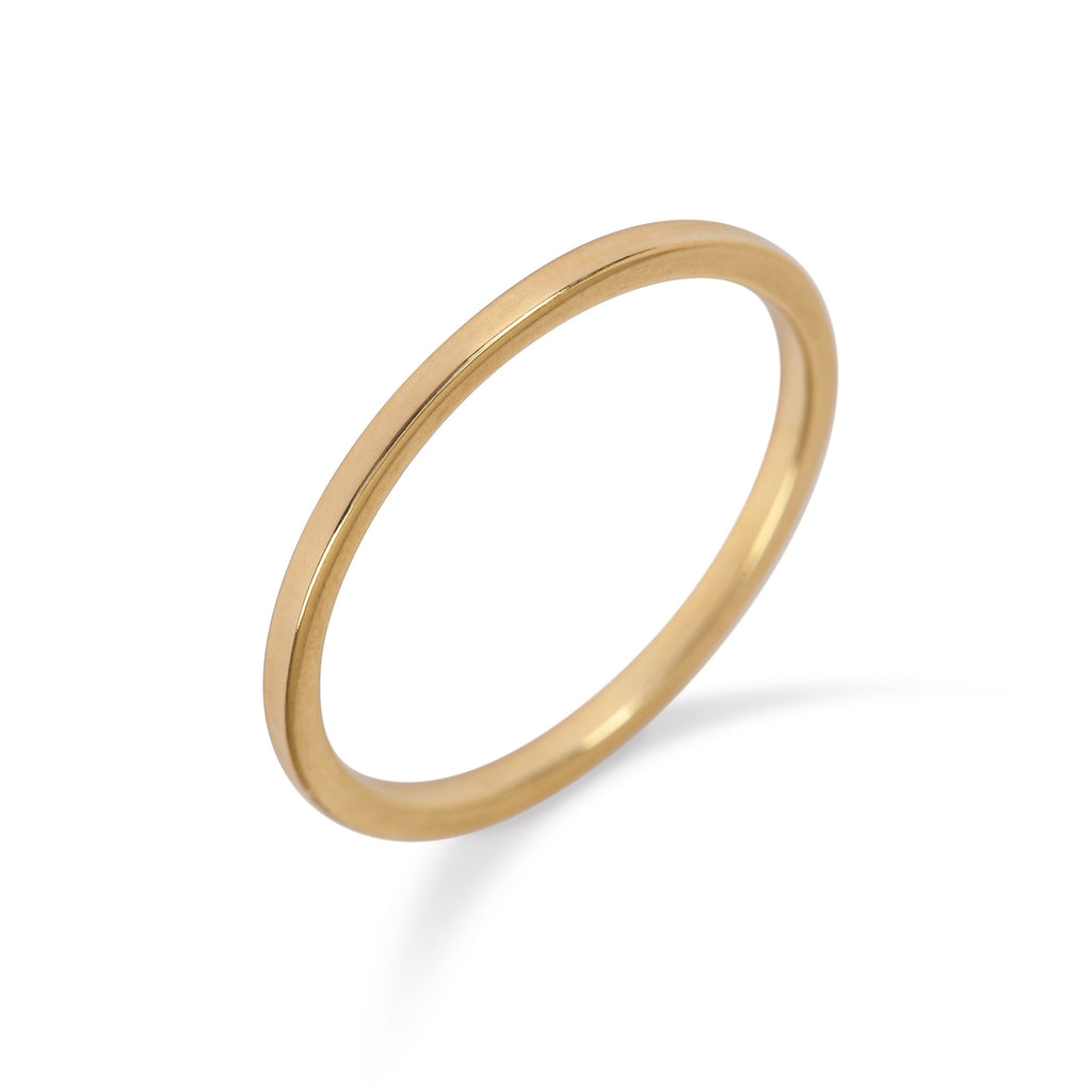 9kt Yellow Gold Plain Band - MoMuse Jewellery